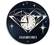 Настенные часы Алмаз бриллиант diamond, подарок фанатам, любителям, 2478