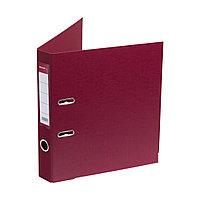 Папка регистратор с арочным механизмом Deluxe Office 2-WN8 А4 50 мм 1200 мкм. (2 мм.) PVC/PVC бордовый