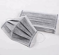 Маска медицинская трехслойная «Dolce-Pharm» на резинках с угольным фильтром