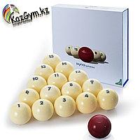 Бильярдные шары Dyna | spheres Prime Pyramid Next Gen 68 мм, красный
