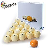Бильярдные шары Dyna | spheres Prime Pyramid Next Gen 68 мм, жёлтый