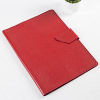 Папка для документов на клапане, 3 комплекта, цвет красный