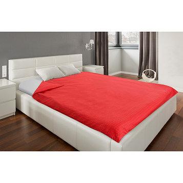 Пододеяльник «Этель» 145х210 см, цвет красный, сатин, 125 г/м²