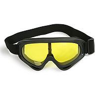 Очки для езды на мототехнике, стекло желтое, цвет черный
