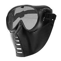 Очки-маска для езды на мототехнике, грязезащита, армированные, цвет черный