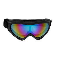 Очки для езды на мототехнике, стекло фиолетовый хамелеон, черные