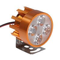 Фара cветодиодная для мототехники, 4 LED, IP67, 4 Вт, направленный свет