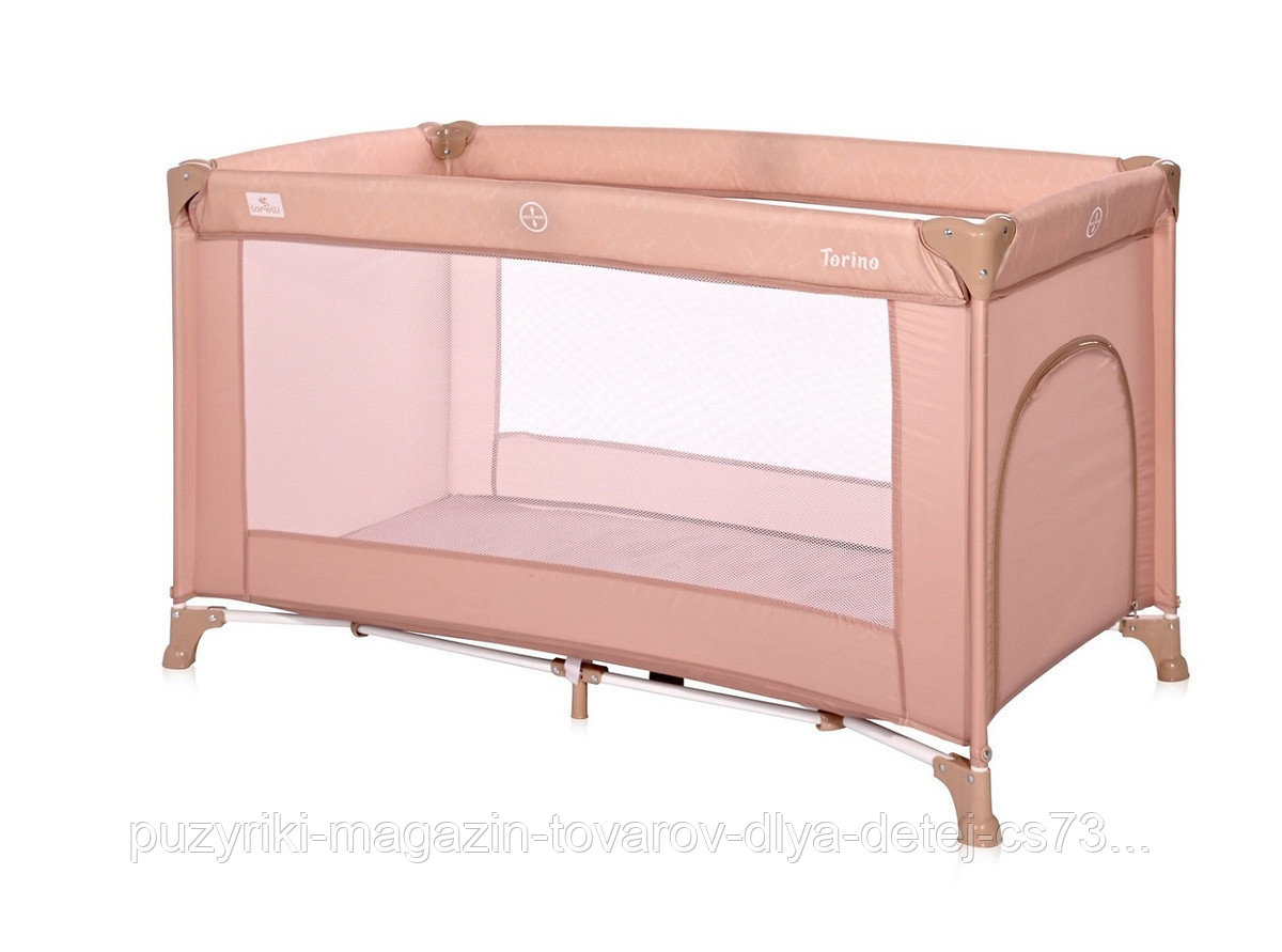 Кровать - манеж Lorelli TORINO 1(бежевый,серый,серо-синий,розовый)