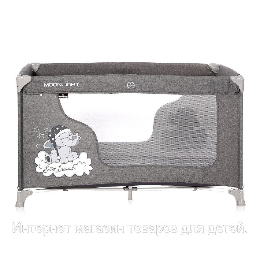 Кровать-манеж Lorelli  MOONLIGHT 1 (бежевый,серый)