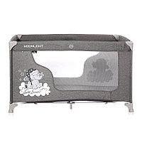 Кровать-манеж Lorelli  MOONLIGHT 1 (бежевый,серый), фото 1