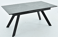 Раздвижной стол Комо 1400(1900)х900 керамика Noir desir bocciardato