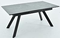 Раздвижной стол Комо 1600(2100)х900 керамика Noir desir bocciardato