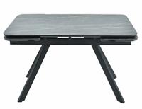 Раздвижной стол Леон керамика 2 кат. керамика Noir desir bocciardato