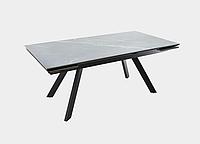 Раздвижной стол Монако керамика1800(2440)х950, Noir desir bocciardato