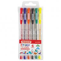 Набор ручкек гелевых классические 6 штук Пифагор