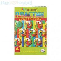 Набор цветного пластика Вращение А4 4 листа 4 цвета 2мм BG