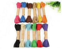 Набор цветных джутовых веревок 1,8мм крученная