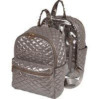 Рюкзак deVENTE 35x28,5x12 см, стеганный полиэстер с металлическим блеском