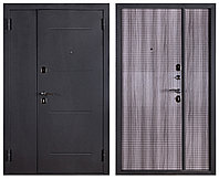 Дверь входная металлическая Ferroni Гарда 75 Муар/Венге Тобакко двухстворчатая (1200 мм )