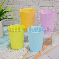 Набор пластиковых стаканов 350 мл 4 шт пастельные цвета