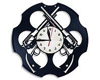 Настенные часы Револьвер пистолет мафия, подарок фанатам, любителям, 2547
