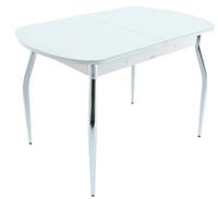 Раздвижной стол Ривьера стекло исп.2,Светло-серый , фотопечать: Цветы №29 +ноги 5