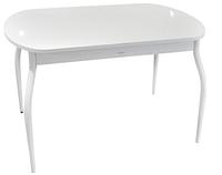 Раскладной стол Ривьера стекло исп.2, Белый 22, RAL 9003 (белое)+ноги 24