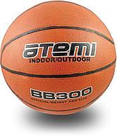 Мяч баскетбольный Atemi, р.5, синтетическая кожа ПВХ, 8 панелей, BB300