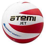 Мяч волейбольный Atemi, JET, синтетическая кожа PU Soft, бел/красн, 12 панелей