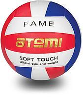 Мяч волейбольный Atemi, FAME, синтетическая кожа PU Soft , красн/бел/син