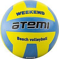 Мяч волейбольный Atemi, WEEKEND, резина, желт-голубой