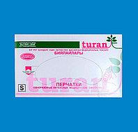 Перчатки «Turan» Хирургические, латексные опудренные. В упаковке:1 пара Размеры: 6,5-XS, 7-C, 7,5-М,