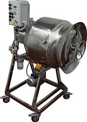 Массажер вакуумный (для мяса, с переменной частотой вращения) ИПКС-107-100Ч(Н), объем бункера 100 л. ругул