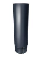 Труба водосточная круглая Ø100 мм, 3000 мм 0,5 двусторонний RAL 7024 Серый
