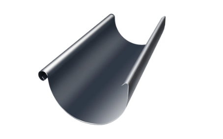 Желоб полукруглый Ø125 мм 3000 мм 0,5 двусторонний RAL 7024 Серый