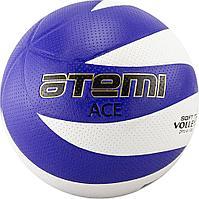 Мяч волейбольный Atemi, ACE, синтетическая кожа PVC, бел/син 12 панелей