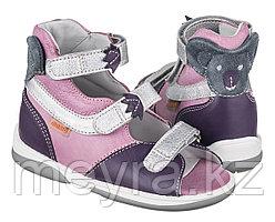 Детские ортопедические сандалии с высоким берцем