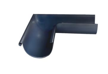 Угол желоба внешний 90 гр Ø125 мм 0,5 штампованный RAL 7024 Серый