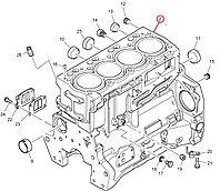 Блок двигателя (пустой, а также в сборе) на экскаватор-погрузчик Caterpillar 428 (C, D, E, F), 432 Кат Cat