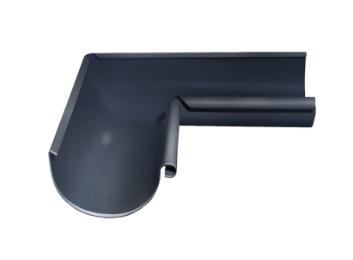 Угол желоба внутренний 90 гр Ø125 мм 0,5 штампованный RAL 7024 Серый