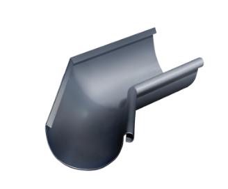 Угол желоба внутренний 135 гр Ø125 мм  0,5 RAL 7024 Серый