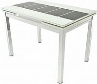 Раздвижной стол Шанхай Каре ( Рисунок: Черный, Каркас: Белый)