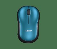 Мышь Logitech M185, синий/черный