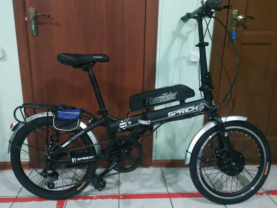 "Электровелосипед складной, (передний привод),  36v 350w, аккум. Li-ion 36v 19,2 A/H. Колеса 20""."