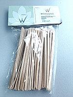 Шпатель для нанесения воска малые 100 шт деревянные ITALWAX