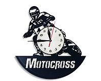Настенные часы Мотокросс Motocross, подарок фанатам, любителям, 2637