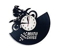 Настенные часы Мотокросс Motocross, подарок фанатам, любителям, 2639