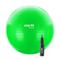 Мяч гимнастический, для фитнеса (фитбол) Starfit GB-106 55 см green антивзрыв с ручным насосом