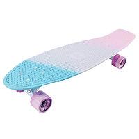 "Penny board (пенни борд) Tech Team Tricolor 27"" 2021 sea blue/white"