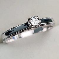 Золотое кольцо с бриллиантами 0.20Сt VS2/I, EX - Cut, фото 1
